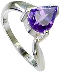 nubile Amethyst fashion Purple Ring handcrafted L-1in US