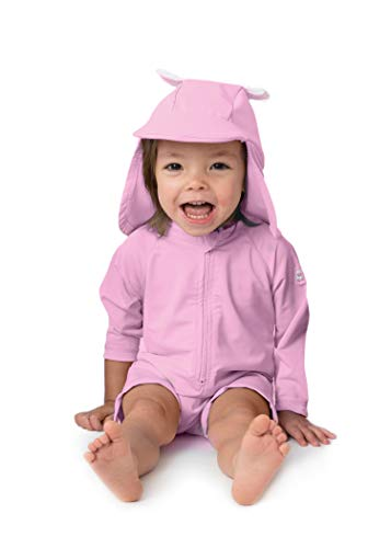 Sunzies Baby Bear Rashguard Sunsuit Pink 18-24m ()
