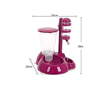 SGXDM Dispensador de Agua para Mascotas Gato Perro dispensador de Agua alimentador automático Colgando Agua Potable Cuenca Botella de Agua Suministros para ...