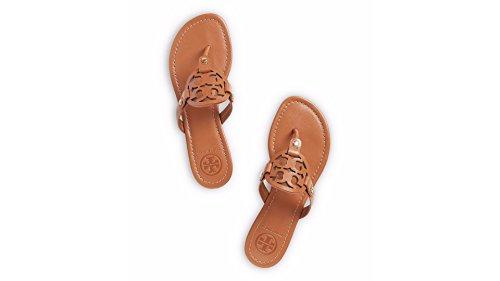 Tory Burch Miller Veg Leather Flip Flop Shoes, Vintage Vache