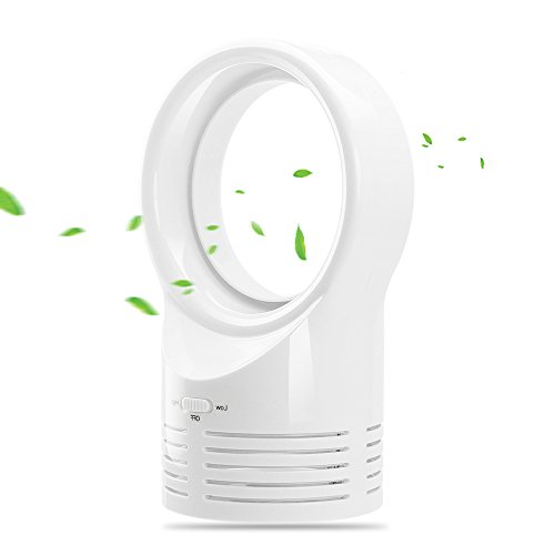 LOHOME Portable Air Conditioning Fan Chargeable Mini Bladeless Cooling Fan (White)