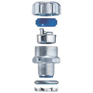 1/2'' Straight Steel Insulated Liquid Tight Connector