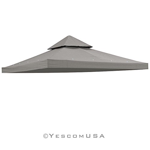 yescom-10x10-2-tier-waterproof-gazebo-top-replacement-uv30-200g-sqm-outdoor-patio-canopy-cover