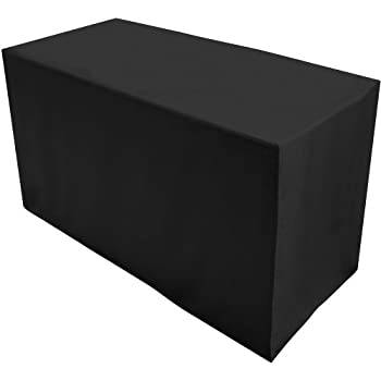 Folding Table Cover, Fitted Tablecloth For 4 Foot Folding Table, Black