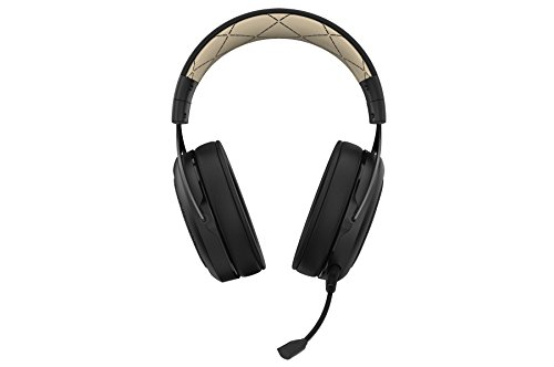 31DjHnLrLML - CORSAIR HS70 SE Wireless - 7.1 Surround Sound Gaming Headset - Discord Certified Headphones - Cream
