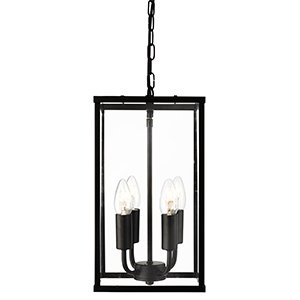 large hanging lantern square black with clear glass panels pendant ceiling light houseoflights ceiling lantern pendant lighting