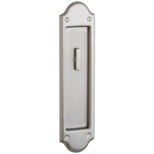 (Baldwin PD016.KT Boulder Style Pocket Door Interior Privacy Trim from the Estate, Lifetime Satin Nickel)