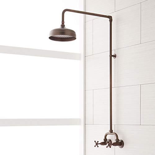 Signature Hardware 370008 Baudette Exposed Wall Mounted Shower with Rainfall Shower Head