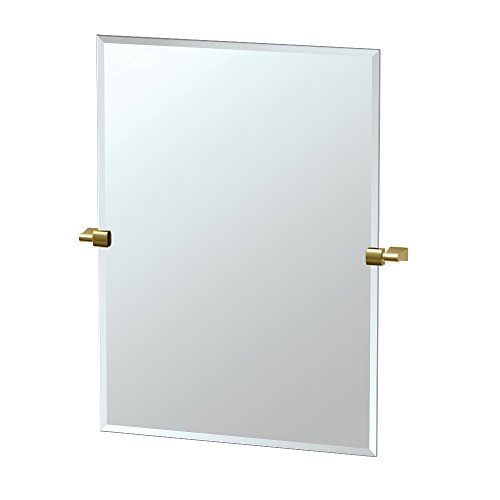 Gatco 4729S Bleu Rectangle Mirror, Matte Brass by Gatco