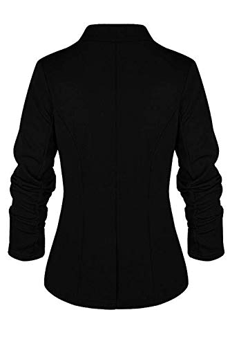 Carica Giacche Pulsante Manica Le Slim Yacun Black Un Lunga Outwear Giacca Sn0Y5