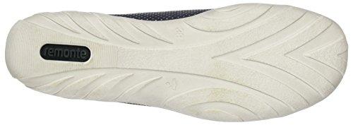 Remonte Ladies R3487 Sneaker Alta Blu (atlantis / Pacifico / Argento / Acciaio)