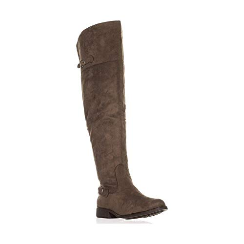 Price comparison product image American Rag Womens Adarra Closed Toe Over Knee Fashion,  Taupe Pu,  Size 11.0