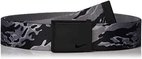 90ca77ced1 NIKE Men's New Tech Essentials Reversible Web Belt, Black camo/Grey, O/