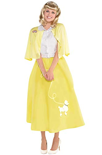SUIT YOURSELF Grease Sandy Olsson Summer Nights Costume for Women, Size Small, Includes a Dress, a Sweater, and a Belt]()