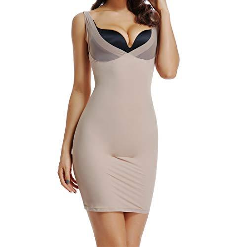 (Joyshaper Full Slips for Women Under Dresses Long Cami Slip Dress Seamless Slimming Slip Shapewear (Nude, X-Large))