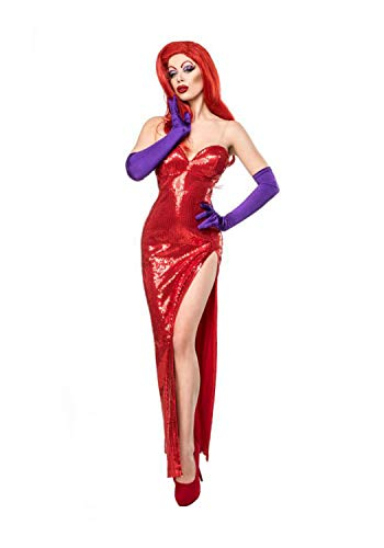 MASK PARADISE Ladies Complete Set Costume Jessica Rabbit S Red
