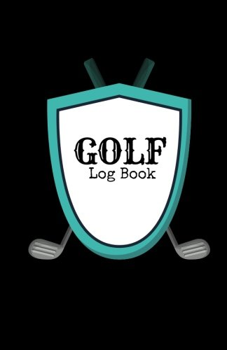 Golf Log Book: Black Cover | Golfing Notebook | 100 Tracking Sheets, Yardage Pages | Track Your Game Stats, Scorecard Template | Golfers Gifts | Small 5.5