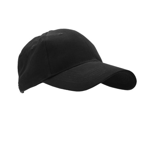 Anvil Unisex Brushed Twill Baseball Cap / Headwear (One Size) (Black)