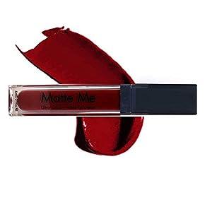 ADS Pro True Matte Me Water Proof Liquid lip Gloss (402-Dark Red + 421-Chrome Red) -By Glavon®