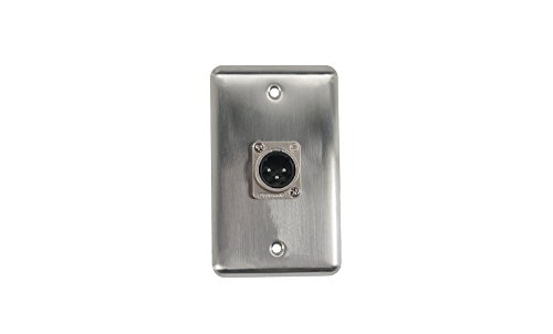 Elite Core  Duplex Wall Plate w/XLR Male Connection (Speakon Wall Plate Single)