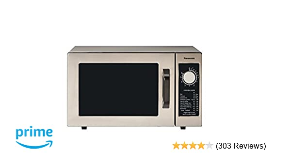Panasonic NE-1025F Compact Light-Duty Countertop Commercial Microwave Oven with 6-Minute Electronic Dial Control Timer, Bottom Energy Feed, 1000W, 0.8 ...