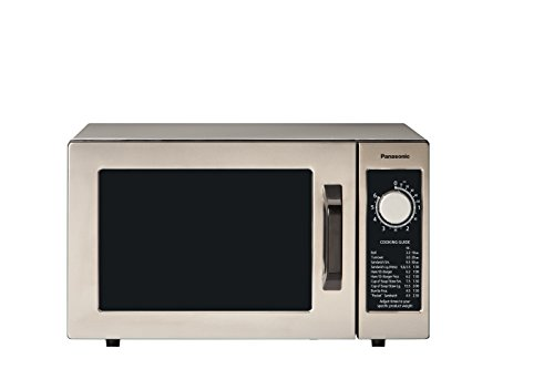 Panasonic NE-1025F Compact Light-Duty Countertop Commercial Microwave Oven with 6-Minute Electronic...