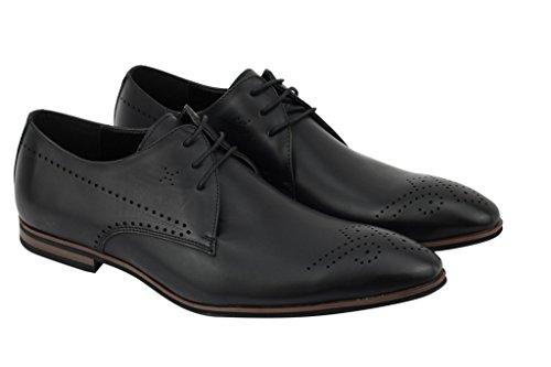 Xposed Chaussures à Lacets Homme - Noir - Noir 2qdetzwQkb,