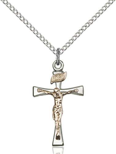 Heartland Store Women's Sterling Silver Two-Tone Maltese Crucifix Pendant with 18' Sterling Silver Chain