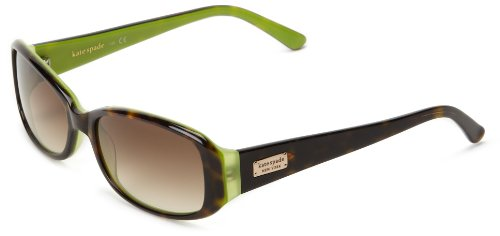 Kate Spade Paxtons Rectangular Sunglasses,Tortoise Kiwi,53 mm