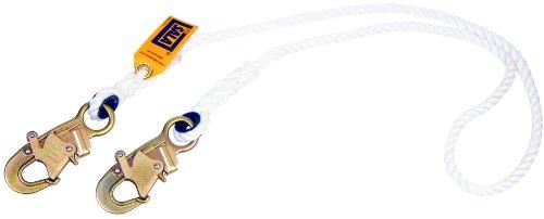 Self Locking Hook - 3M DBI-SALA 1232354 Rope Lanyard, 1/2