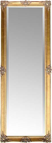 Elbmöbel Wandspiegel Standspiegel Groß 187 x 62 x 4 cm (gold)