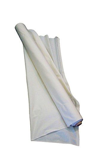 LA Linen 50-Inch Wide Unbleached Cotton Muslin, 25-Yard Roll, 25 Yard, 3.5 OZ