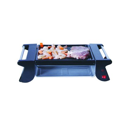 MyFine Mini Grill MF-7K126, Power 500W, Serves 4 persons with 4 Non stick small pans