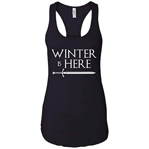 (Winter is Here Shirt Game of Thrones Tank Top Heads Season 8 Official Black)