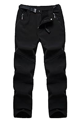 QuietClouds Women's Outdoor Water Resistant Windproof Softshell Fleece Snow Pants