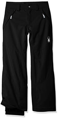 Spyder Girls' Olympia Ski Pant Regular Fit, Black/Black, Siz
