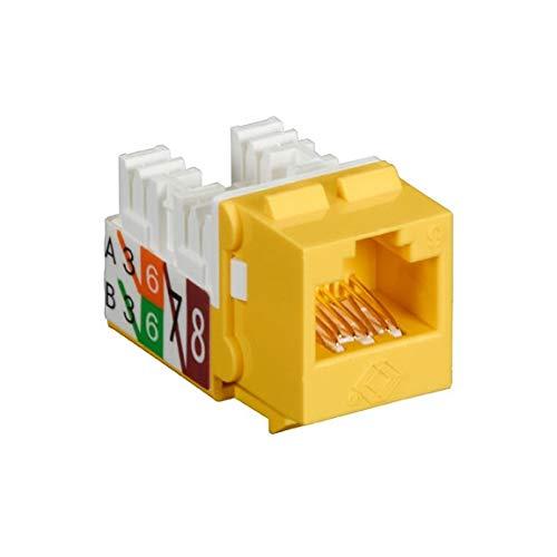 (FMT640-R3-25PAK - BLACK BOX FMT640-R3-25PAK GigaTrue2 CAT6 Jacks, Universal Wiring, Component Level, 25-Pack, Yellow)