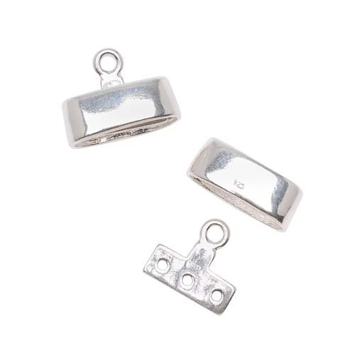 1 Beadaholique Sterling Silver Triple Strand Reducer Connector with Sleek Cover Cap