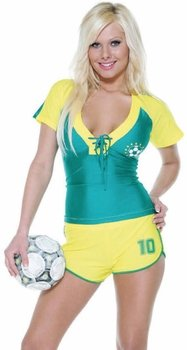 Sexy Soccer Player Costume (Size:Medium/Large