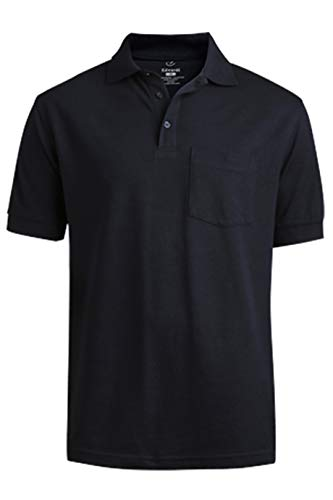 (Edwards Blended Pique Short Sleeve Polo with Pocket X-Large Navy)