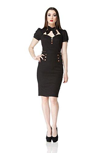 Gothic Classic Vintage Jawbreaker Mieder Schwarz Kleid Steampunk ausgestattet PwC7wqxER