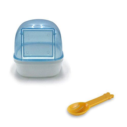 (Wildgirl Small Pet Plastic Bathroom Hamster Bath Sand Room Sauna Bathtub (Blue+shovel))