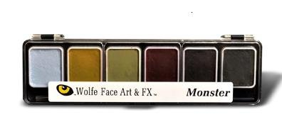 Wolfe Fx MONSTER Palette Face Paint - Refillable -