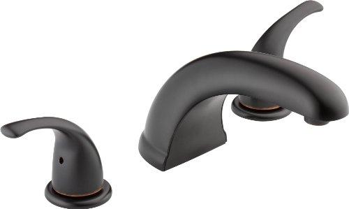 Peerless Tunbridge 2-Handle Widespread Roman Tub Faucet Trim Kit, Oil-Rubbed Bronze PTT298510-OB (Valve Not Included)