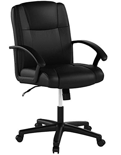 Essentials Leather Executive Office/Computer Chair with Arms - Ergonomic Swivel Chair (ESS-6000)