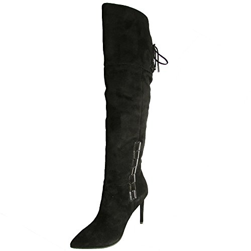 Dolce Vita Women's Inara Riding Boot, Black, 7.5 M US