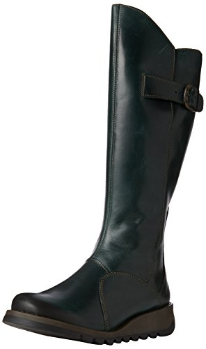 FLY London Womens Mol Knee-High Boot Petrol