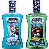 Listerine Smart Rinse Disney Frozen Bubble Blast 16.9 Oz + Marvel Avengers Mint Shield Mouthwash 16.9 Oz