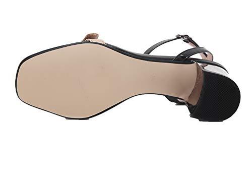 Sandales Couleurs TSFLH007584 d'orteil Mélangées AalarDom Talon Femme Ouverture Correct Kaki à A8qCxS0wU