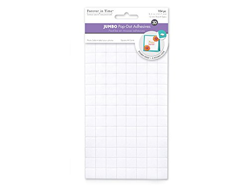 Forever in Time PD310B Jumbo Square Dual-Adhesive Foam (3d Dots White Adhesive Foam)
